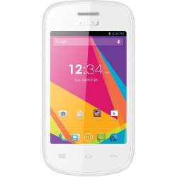 BLU Dash Jr TV D141T 512MB Smartphone, Unlocked, White